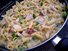 Campanelle with Chicken & Broccoli in Cream Sauce