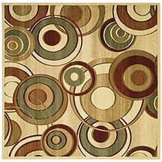 @Overstock.com - Lyndhurst Collection Circ Ivory/ Multi Rug (6' Square) - Create an eye-catching focal point in any room when you display this geometric ivory area rug. The 6-foot square rug features a bold circular pattern of rust, green, and beige on an ivory background, and is made of polypropylene material for durability. http://www.overstock.com/Home-Garden/Lyndhurst-Collection-Circ-Ivory-Multi-Rug-6-Square/5034311/product.html?CID=214117 $87.29