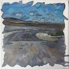 Shop 'Postcard From A Road Trip' by South African artist Deidre Maree, acrylic painting on boxed canvas size 20 x 20 x available to buy online. South African Artists, Canvas Size, Landscape Paintings, Road Trip, Gallery, Artwork, Art Work, Work Of Art, Auguste Rodin Artwork
