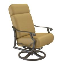 Tropitone Montreux Action Lounge Rocking Chair with Cushions Finish: Woodland, Fabric: Dupione Walnut