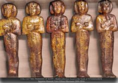 """1336-1327 900r PHARAOHS OF EGYPT – Shabti collection found in the Tomb of TUTANKHAMUN. Egyptian Museum, Cairo ©Hans Ollermann 2004-2016."" ^**^"