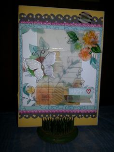 Thank you card I made with January Scraptastic Club kit.