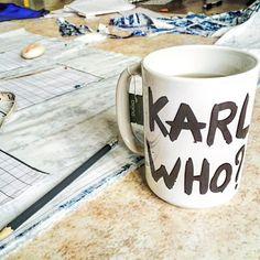 Karl who? #pukka #supremematchagreen giving me the caffeine I need this morning.. #bettybrown #earlymorning #design #cut #sew #create #handmade #bespoke #fashion by bettybrownuk