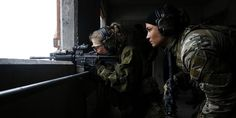 Shoot training for hunter squad at the Norwegian Army Special Operation Command