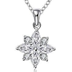 Byzinci Gümüş Yıldız Zirkon Taşlı Kolye