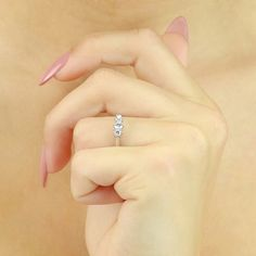 0.35ct Diamond Trilogy Ring by ArahJames on Etsy