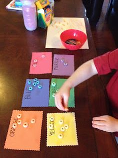 Color sorting with fruit loops...fun, very educational and delicious!