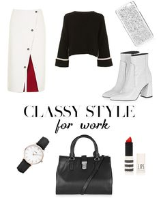 This is the perfect style guide to dress like a office boss lady, building your career. Classy style for work