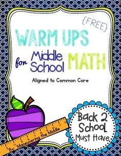 Middle School Math Warm Ups {FREEBIE}