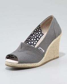 841ab46befaf Canvas Espadrille Wedge by TOMS at Neiman Marcus.