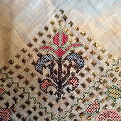 """92 Likes, 1 Comments - Vintage & Antique Textiles (@vintageandantiquetextiles) on Instagram: """"Sitting at the kitchen table and listening to the rain - good night #turkishtowell #summerrain…"""""""