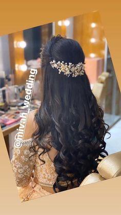 Bridal Hairstyle Indian Wedding, Bridal Hair Buns, Bridal Hairdo, Hairdo Wedding, Long Hair Wedding Styles, Wedding Hairstyles For Long Hair, Office Hairstyles, Stylish Hairstyles, Hairstyles Videos