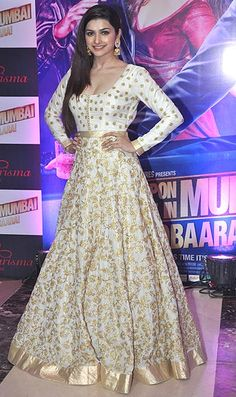 Prachi Desai, who played the female lead in the first film, went the overwhelming anarkali route too for the party.