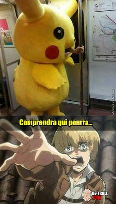 Memes Anime Otaku Shingeki No Kyojin Anime Meme, Funny Anime Pics, Otaku Anime, Aot Funny, Funny Comics, Funny Memes, Memes Humor, Attack On Titan Meme, Anime Zodiac