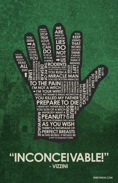 #ThePrincessBride quotes on a 6-fingered hand <3