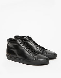 81c6152521d90 Mid top sneaker from Common Projects in Black Classic Leather