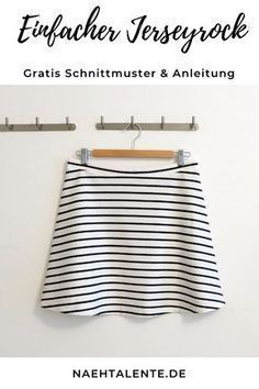 Rock in A-Linie Jerseyrock – Schnittmuster mit Nähanleitung und vielen Fotos – … Skirt in A-line jersey skirt – pattern with sewing instructions and many photos – Gr. 34 – 56 – suitable for all beginners Sewing Hacks, Sewing Tutorials, Sewing Tips, Poncho Crochet, Diy Mode, Jersey Skirt, Love Sewing, Hand Sewing, Sewing Projects For Beginners