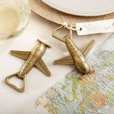 For the lovers of aviation! Cute idea!   Airplane Bottle Opener by Beau-coup