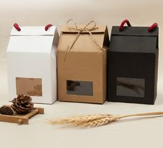 Free shipping 100 Wholesale Small Paper Box with by HaloDeLune