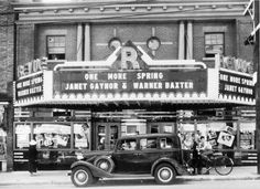 The Revue Cinema in Toronto, older picture. Toronto Winter, Toronto Canada, Toronto City, Janet Gaynor, The Rocky Horror Picture Show, Vintage Photographs, Vintage Photos, Movie Theater, Feature Film