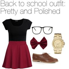"""""""Back to school outfit: Pretty and Polished"""" by pink-loverr14 on Polyvore"""