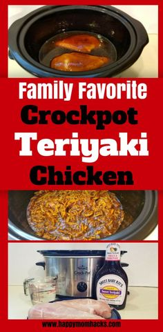 Crockpot Teriyaki Chicken Recipe your whole family will love. So easy to ma Easy Crockpot Teriyaki Chicken Recipe your whole family will love. So easy to ma. -Easy Crockpot Teriyaki Chicken Recipe your whole family will love. So easy to ma. Easy Crockpot Chicken, Healthy Crockpot Recipes, Slow Cooker Recipes, Chicken Cooker, Chicken Recipes, Crockpot Meals, Chicken Teriyaki Rezept, Healthy Sweet Snacks, Healthy Dinners