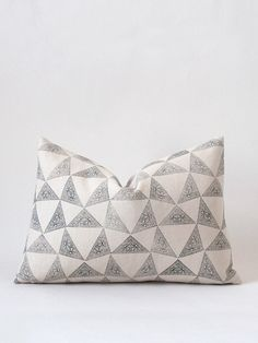 12 x 18 Cushion - Natural Facet Blockprint – susan connor new york #textiles