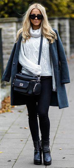 #fall #fashion / heavy knit