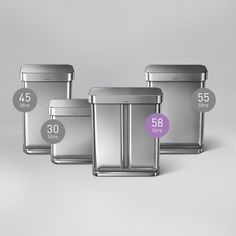 Simplehuman Pull Out And In Cabi Trash Cans Garbage Bins For Kitchen