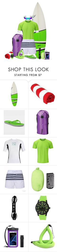 """Buzz at the Beach"" by leighanned ❤ liked on Polyvore featuring Hurley, Billabong, Rab, Crayo, men's fashion and menswear"