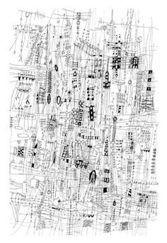 Abstract Drawings, Art Drawings, Abstract Art, City Art, Landscape Pictures, Landscape Art, City Drawing, Architecture Drawings, Architecture Panel
