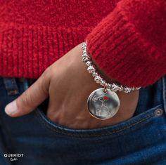 9a0451f241 Ciondolo Moneta Forever in Argento 925, Oro rosa 9k e smalto a freddo color  rosso