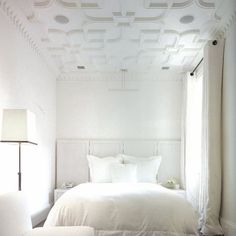 Designer ceilings look good in any room, including a bedroom. In rooms with high ceilings, or rooms lacking in detail, the ceiling can become an instant feature, so why lie in bed looking at blank ceilings when you can be inspired by a beautiful ceiling