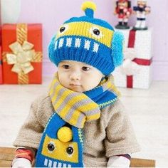 Novelty Wool Hat + Scarf 21 Colors