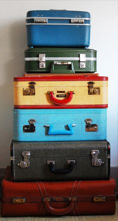 i collect vintage suitcases. for what, i do not know.