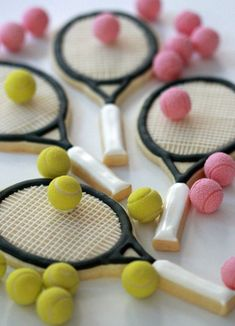 How to Decorate Tennis Racket Cookies   Sweetopia