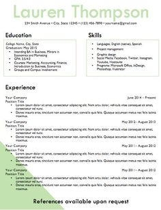 Resume Template Word Document Download By Inspirebranding