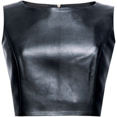 In Clouet Leather Crop Top (205 AUD) ❤ liked on Polyvore featuring tops, crop tops, shirts, blouses, shirt crop top, crop shirt, leather crop top, blue leather shirt and shirt tops