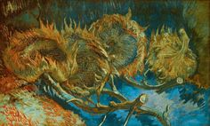 Four Cut Sunflowers ~ Vincent van Gogh