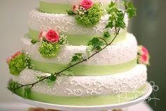 Hochzeitstorte grün