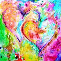 Heart Painting - Dos Corazones by Ivan Guaderrama Heart Painting, Love Painting, Watercolor Painting, Heart Art, Love Heart, Heart Canvas, Canvas Prints, Art Prints, Canvas Art