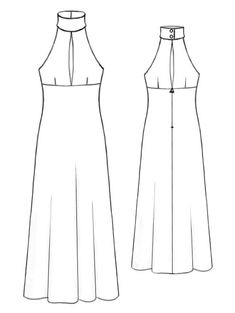 Long Dress - Sewing Pattern #5192 - $2.49 (Enter your measurements for a custom-size pattern!)