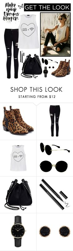 """Get the Look - Casual Chic"" by whims-and-craze ❤ liked on Polyvore featuring Pierre Hardy, Miss Selfridge, Ally Fashion, Miu Miu, Valentino, ROSEFIELD, Humble Chic, GetTheLook, casual and whitetop"
