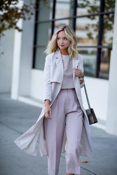 blush top + trousers