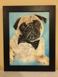 Portrait of Charlie, oil painting on canvas
