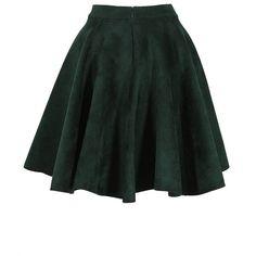 Azzedine Alaïa Green Velvet Circle Skirt ($1,435) ❤ liked on Polyvore featuring skirts, bottoms, green, velvet skater skirt, elastic waist skirt, alaïa, circle skirt and skater skirt