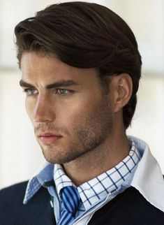 cool Chic Medium Hair Styles, Chic Medium Hair Styles For Men, Trend Hair Cut With Brown Hair Check more at http://haircutfit.com/70.html