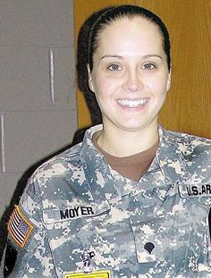 Army Sgt Ashly L. Moyer, of Emmaus, PA; died March serving during Operation Iraqi Freedom Assigned to the Military Police Company, Bamberg, Germany. Died March 3 in Baghdad when an improvised explosive device detonated near her vehicle. Fallen Soldiers, Fallen Heroes, Military Women, Military Police, Real Hero, My Hero, Remember The Fallen, Army Sergeant, Operation