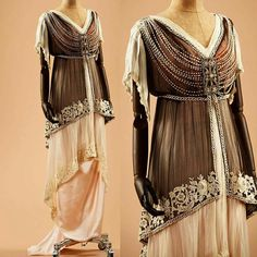 Evening dress, ca. 1910s.  Alexandre Vassiliev Collection.