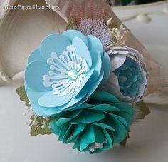 Handmade Paper Flowers  Corsage  Weddings  by morepaperthanshoes, $38.00